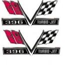 "1967 Camaro ""Turbo-Jet 396"" Fender Emblem Pair"